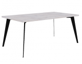 dining table with iron leg