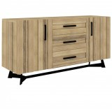 Sideboard with iron leg 2 doors  3 drawers