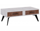 coffee Table with iron leg 2 drawers